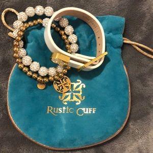 Rustic cuff bracelets total of three